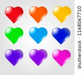 set of colorful hearts | Shutterstock .eps vector #1168067710