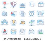 set of flat line color icons.... | Shutterstock .eps vector #1168068073