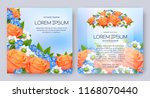 floral vector card set with... | Shutterstock .eps vector #1168070440