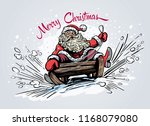 surprised and scared santa... | Shutterstock .eps vector #1168079080