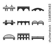 collection of vector bridges... | Shutterstock .eps vector #1168085683