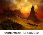 3d rendered fantasy alien planet   Shutterstock . vector #116809210