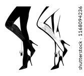 sexy female legs wearing high... | Shutterstock .eps vector #1168094236