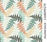 fern frond herbs  tropical... | Shutterstock .eps vector #1168099279