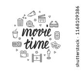 movie time vector illustration | Shutterstock .eps vector #1168109386
