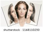 comparison. portrait of... | Shutterstock . vector #1168110250