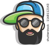 rapper bearded man | Shutterstock .eps vector #1168112143