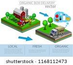 organic market concept. vector... | Shutterstock .eps vector #1168112473