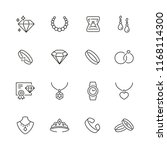 jewelry related icons  thin... | Shutterstock .eps vector #1168114300