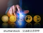 cryptocurrency business... | Shutterstock . vector #1168115599
