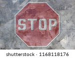 traffic sign of stop of... | Shutterstock . vector #1168118176