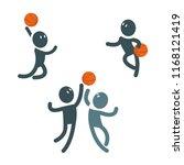 set of simple vector characters ...   Shutterstock .eps vector #1168121419