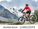 active senior woman  riding her ... | Shutterstock . vector #1168123243