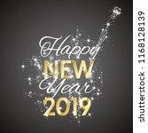 2019 happy new year firework...   Shutterstock .eps vector #1168128139