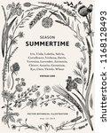 summertime. floral frame.... | Shutterstock .eps vector #1168128493