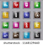 industry vector glass icons for ... | Shutterstock .eps vector #1168129660