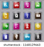 industry vector glass icons for ... | Shutterstock .eps vector #1168129663
