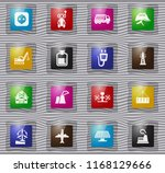 industry vector glass icons for ... | Shutterstock .eps vector #1168129666