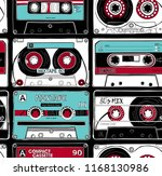 seamless pattern with a vintage ... | Shutterstock .eps vector #1168130986