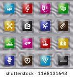 high voltage glass icons set... | Shutterstock .eps vector #1168131643