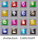 high voltage glass icons set... | Shutterstock .eps vector #1168131649