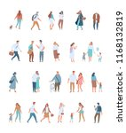 flat people big vector set.... | Shutterstock .eps vector #1168132819