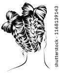 fashion stylish women... | Shutterstock .eps vector #1168139143
