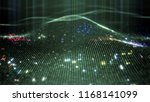 abstract glowing virtual neural ... | Shutterstock . vector #1168141099