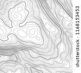 vector contour topographic map... | Shutterstock .eps vector #1168153453