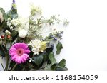 flowers on a white background ... | Shutterstock . vector #1168154059