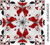 floral ornamental red black... | Shutterstock .eps vector #1168160233