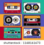set of a bright vintage... | Shutterstock .eps vector #1168161673