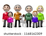 3d multigenerational family | Shutterstock . vector #1168162309