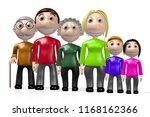 3d multigenerational family | Shutterstock . vector #1168162366