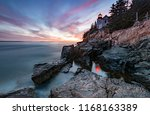 Sunset At Bass Harbor Light In...