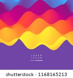 abstract wavy background with... | Shutterstock .eps vector #1168165213
