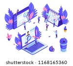 isometric small people work... | Shutterstock .eps vector #1168165360