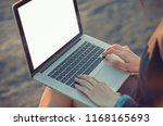 person hands busy using typing... | Shutterstock . vector #1168165693