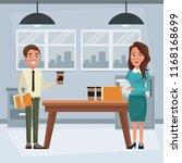 business people inside office | Shutterstock .eps vector #1168168699