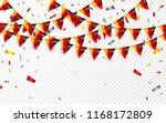 germany flags garland white... | Shutterstock .eps vector #1168172809