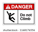 danger do not climb symbol sign ... | Shutterstock .eps vector #1168176556