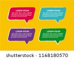 set of colorful speech bubbles | Shutterstock .eps vector #1168180570