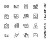 collection of 16 camera outline ... | Shutterstock .eps vector #1168184800
