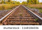 retro railroad against an... | Shutterstock . vector #1168186036