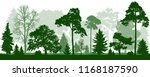 forest green trees silhouette.... | Shutterstock .eps vector #1168187590