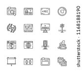 collection of 16 panel outline... | Shutterstock .eps vector #1168188190