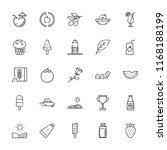 collection of 25 fresh outline... | Shutterstock .eps vector #1168188199