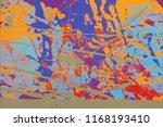 ink handmade painting. abstract ... | Shutterstock . vector #1168193410