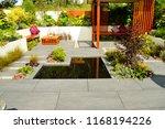 low maintenance garden with a... | Shutterstock . vector #1168194226