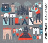 milan. italy. print design | Shutterstock .eps vector #1168196320